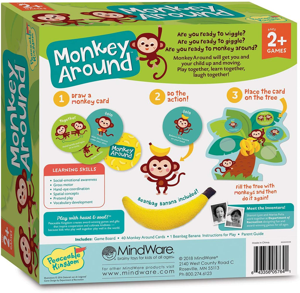 [Sale] *Peaceable Kingdom Monkey Around: The Wiggle & Giggle Game