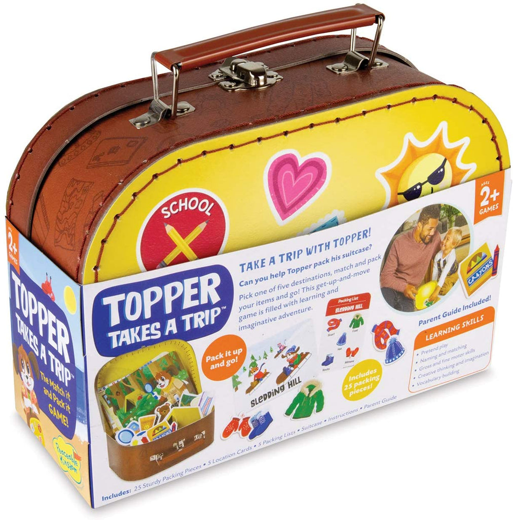 Peaceable Kingdom Topper Takes a Trip: A Match It & Pack It Game