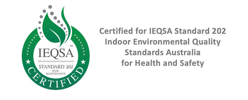 Certified for IEQSA HVAC 202