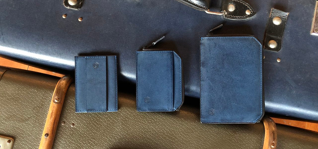Accomplice and Diplomat Premium Leather Zip Wallets