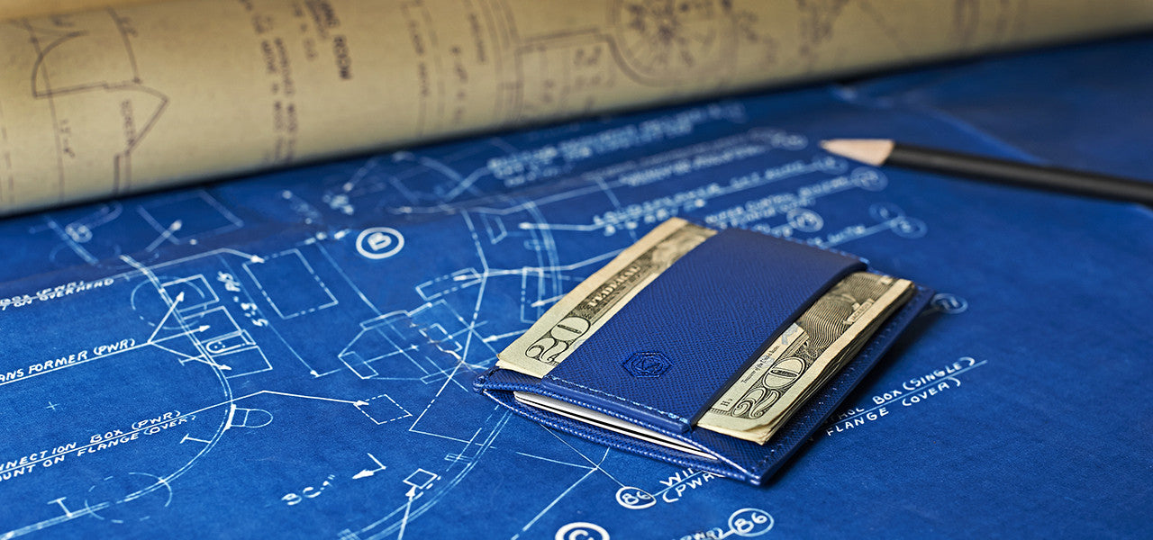 Blueprint Minimalist Italian Saffiano Leather Wallet