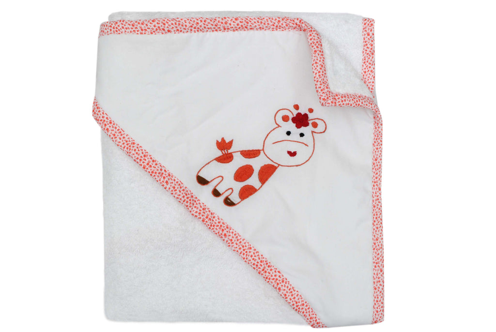 Giraffe Baby Towel (Orange)
