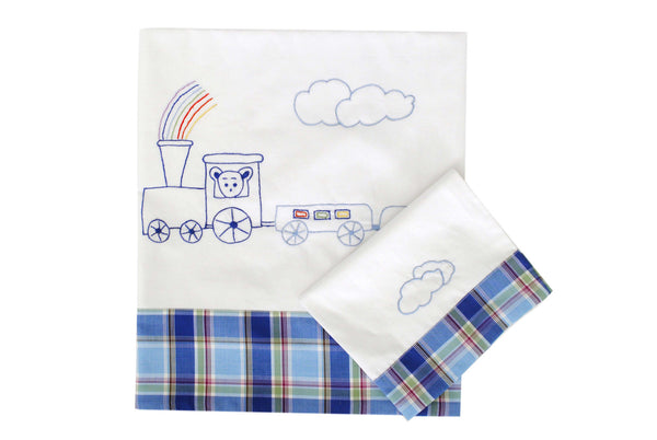 Choo Choo Train Baby Sheet Set