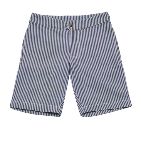 BOYS BLUE SEERSUCKER SHORT. FROM 50€ NOW: