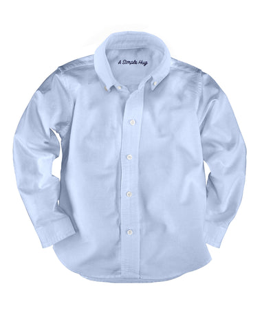 Light Blue Poplin Classic Boy's Shirt. FROM 55€ NOW:
