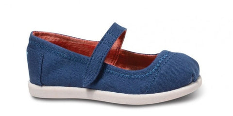 TOMS NAVY MARY JANES