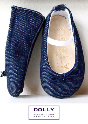 abe8f0fefa09 Dolly by Le Petit Tom Baby Ballerinas Denim. FROM 55€ NOW