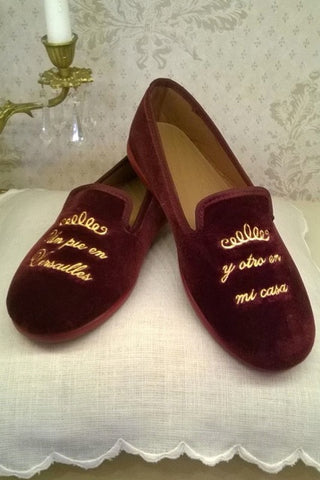Luxury Unisex Velvet Slippers - Bordeaux. From 45€ NOW ONLY: