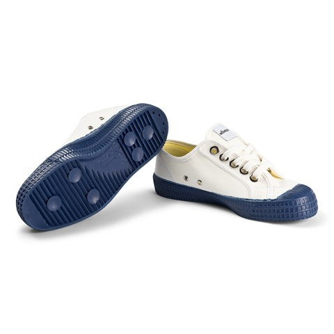 White & Navy Star Master Teen Trainers