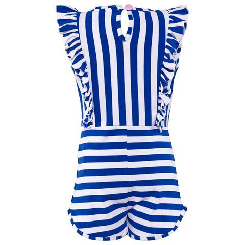 Ellenora Blue and White Frill Playsuit. FROM 55€ NOW: