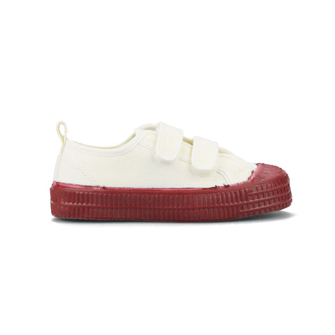White and Red Star Master Velcro Kid Trainers