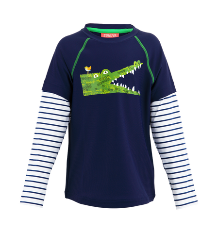BOYS CROCODILE RASH VEST. FROM 52€ NOW: