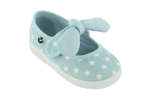 Victoria Star Mary Jane With Bow - Light Blue. FROM 30€ NOW: