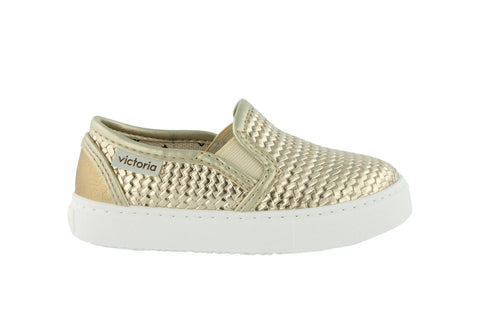 Victoria Metallic Braided Slip-On Gold (Sizes 24-34). FROM 55€ NOW: