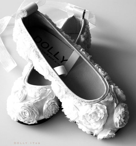 Dolly by Le Petit Tom Rose Satin Ballerinas. From 80€ now: