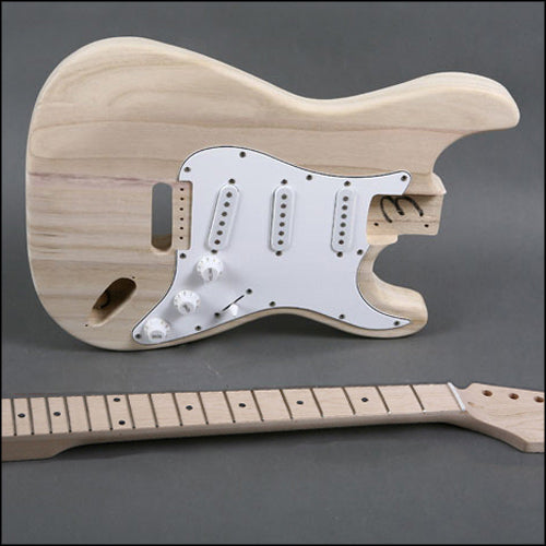 diy stratocaster electric guitar kit blackbeard 39 s den. Black Bedroom Furniture Sets. Home Design Ideas