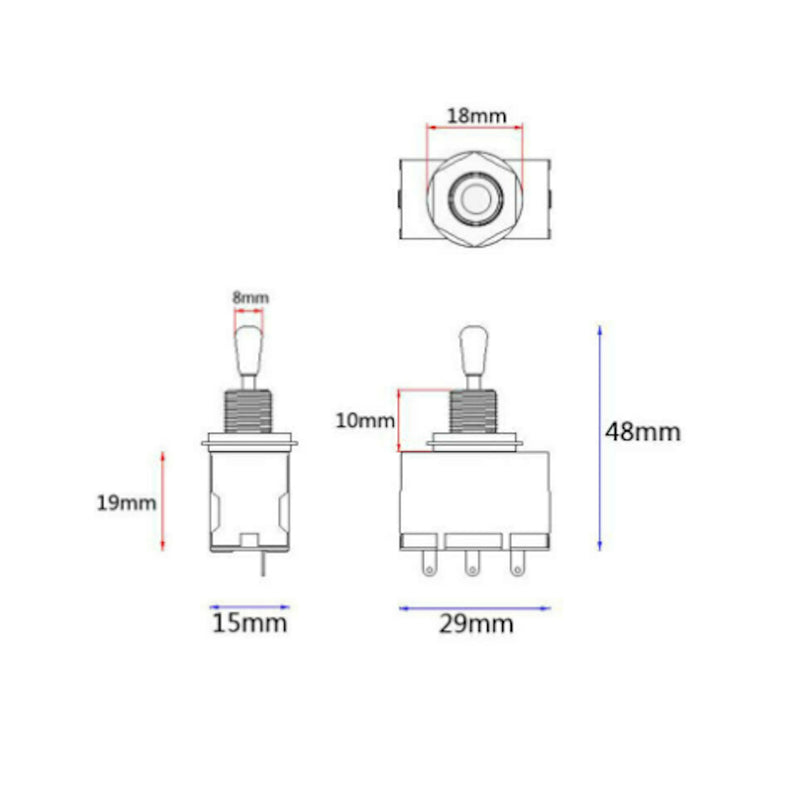3 Way Toggle Switch Specs