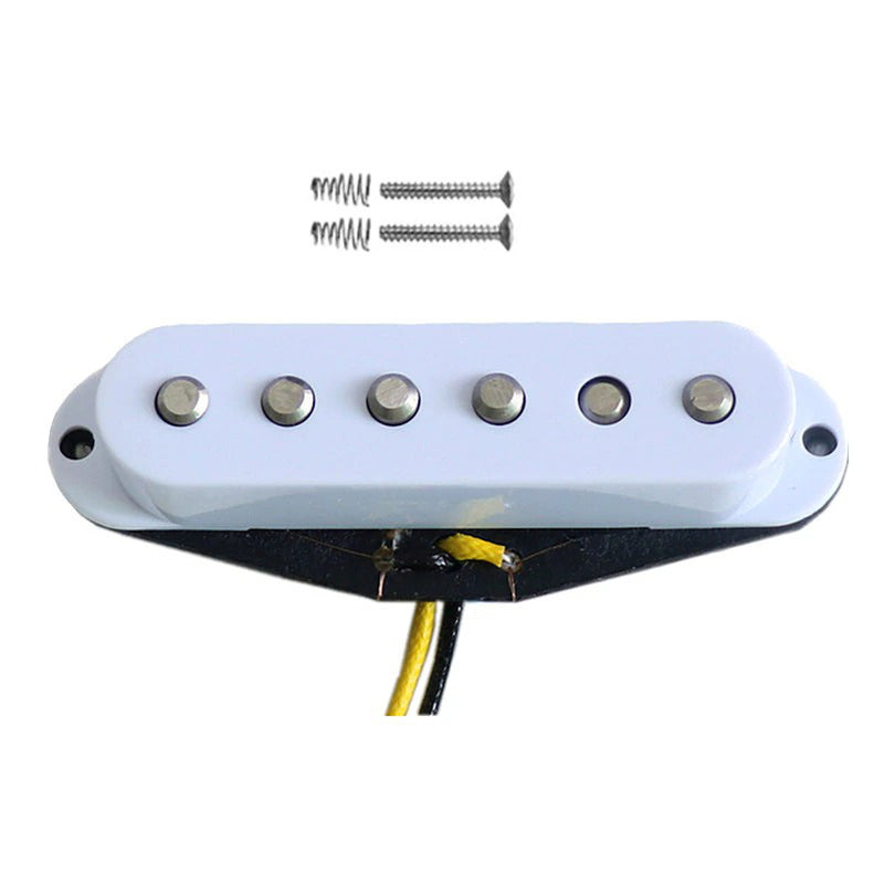 High Output 60's Style Alnico V Single Coil Pickups White