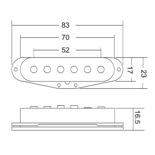 Flat 5-Rod Single Coil Pickups Specs