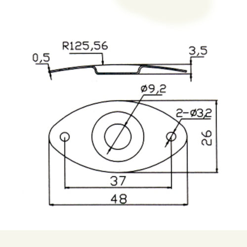 Recessed Oval Jack Plate Specs