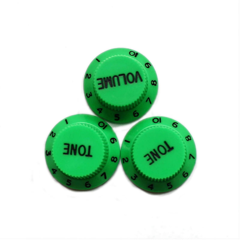 Strat Control Knobs Green