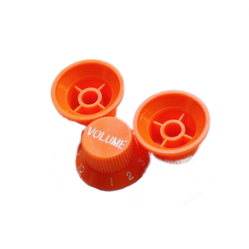 Strat Control Knobs  Orange