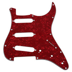 Stratocaster Pickguard Red Perloid S-S-S