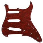 Stratocaster Pickguard Red Tortoise S-S-S