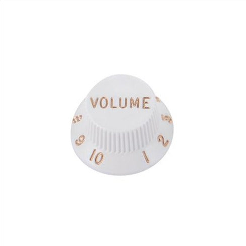 Strat Control Knobs White Volume