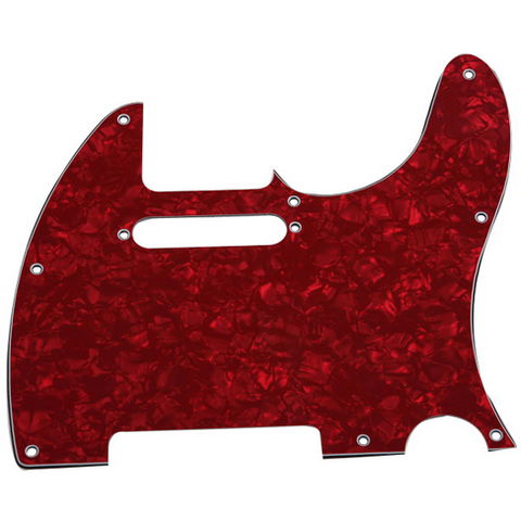 Telecaster Pickguard Red Perloid