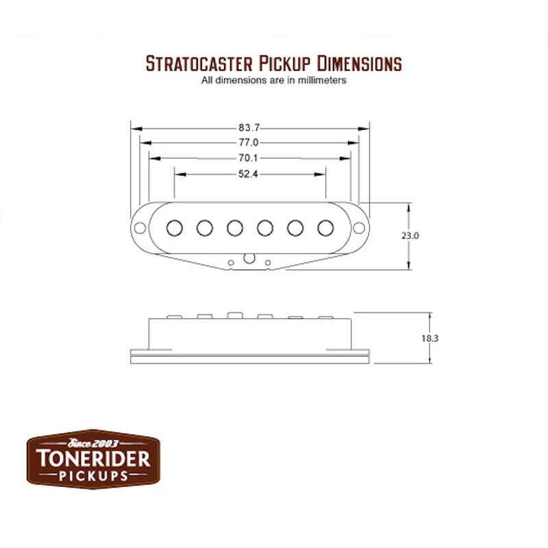 ToneRider Classic Blues Pickups Specs Metric