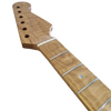 Strat Roasted Curly Maple Neck Front