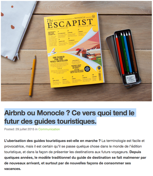 Airbnb ou monocle ?