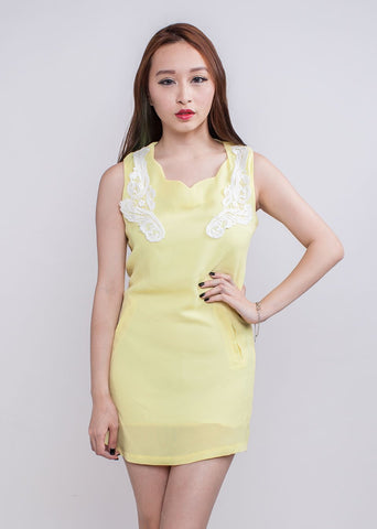 C5002 - Xanthela Crochet Dress (Yellow)