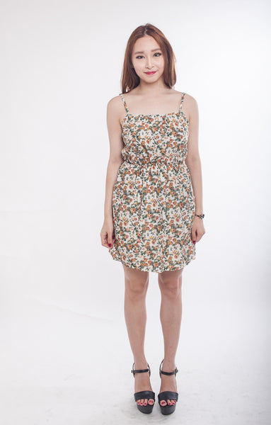 C6706 - Pearlyn Floral Dress in Green & Yellow
