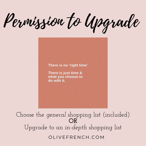 Permission to upgrade. An upgraded personal shopping list with exact items you need for your closet.