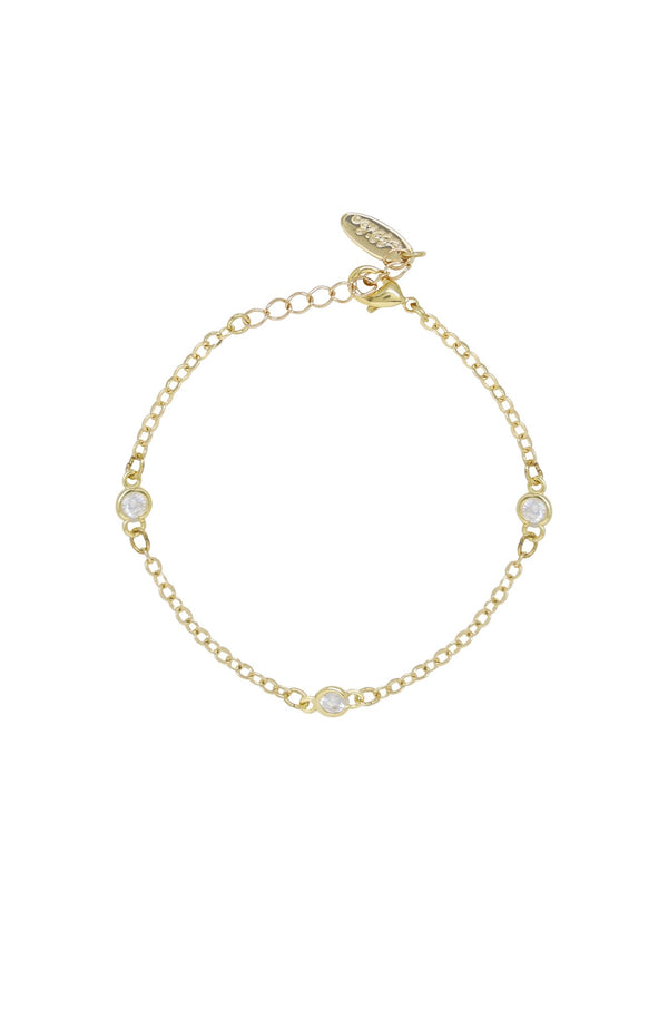 Simple Trinity Crystal Bracelet