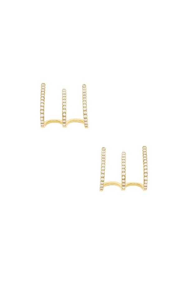 Gold Sparkle Ear Wrap Earrings