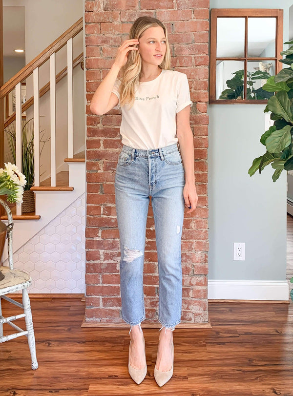 """Supermodel Mom Jean"" by Hidden Jean // Ultra High Rise Light Wash"