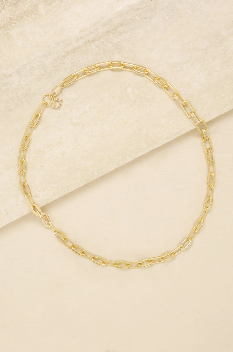 Fancy Pave Chain Necklace