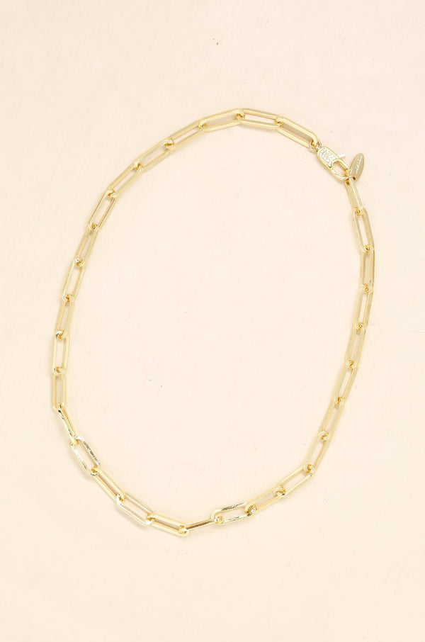 Interlinked 18k Gold Plated Chain Necklace