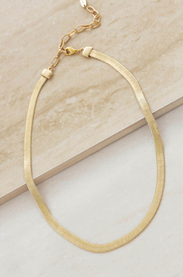 Brooklyn Flat 18k Gold Plated Necklace
