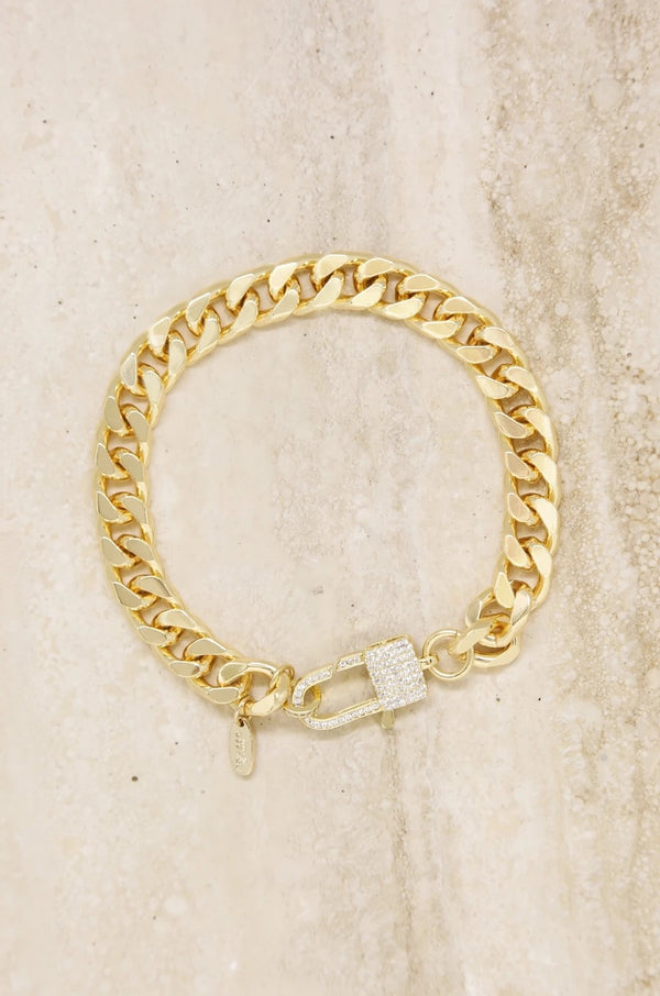 """Best of The Best"" 18k Gold Plated Link Anklet"
