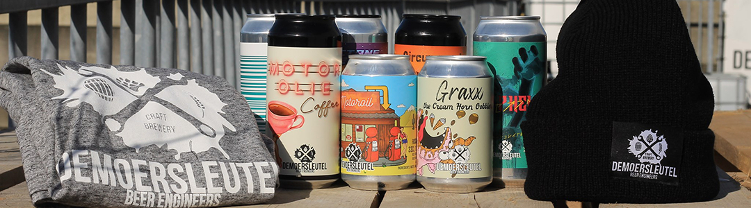 The collection of beers from De Moersleutel brewery