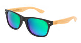 Surreal® Sunglasses - Half Bamboo Polarized Black