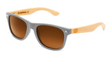 Surreal® Sunglasses - Half Bamboo Polarized Matte Grey