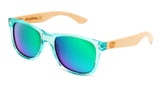 Surreal® Sunglasses - Half Bamboo Polarized Transparent Light Blue