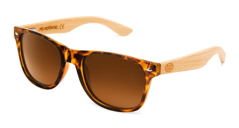 Surreal® Sunglasses - Half Bamboo Brown Tortoise