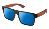 Premium Walnut Wood Temple - Square *Polarized*