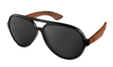 Premium Walnut Wood Temple - Aviator *Polarized*